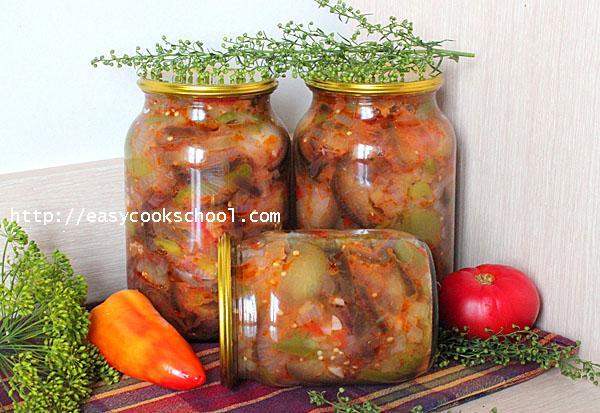 Салат десятка из баклажанов на зиму рецепт классический